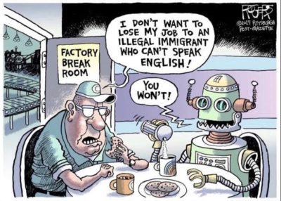 Immigrants bad robots bad