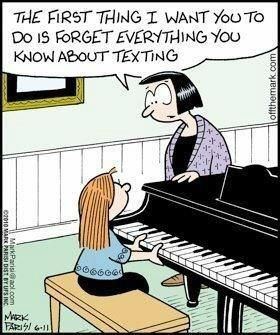 My piano teacher is the last person you would expect to show this to her students