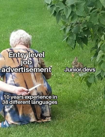 no junior devs were harmed during the making of this meme