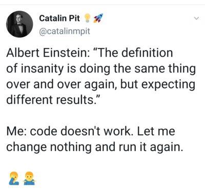 Einstein versus me