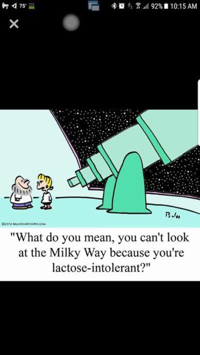 Lactose intolerant.