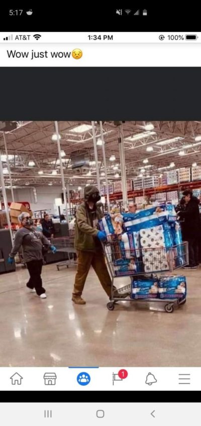 This picture was taken at my local Costco. We're doomed folks.