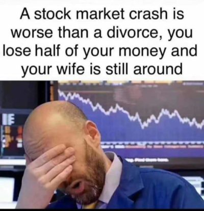 Wife bad. Stocks bad.