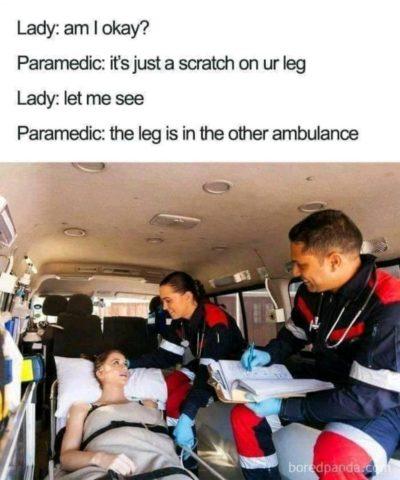 Bring me my leg!!!