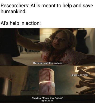 AI in action.