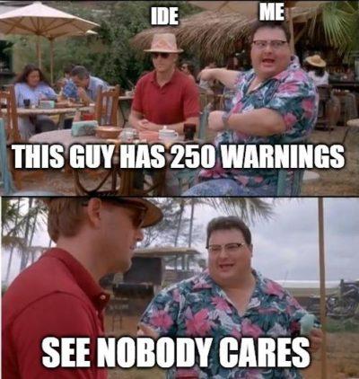 Nobody cares !!