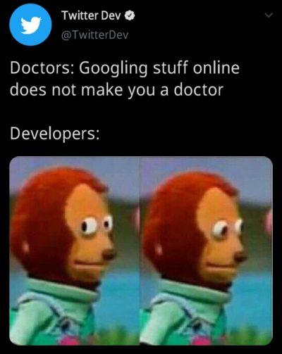 Laughs in Google.