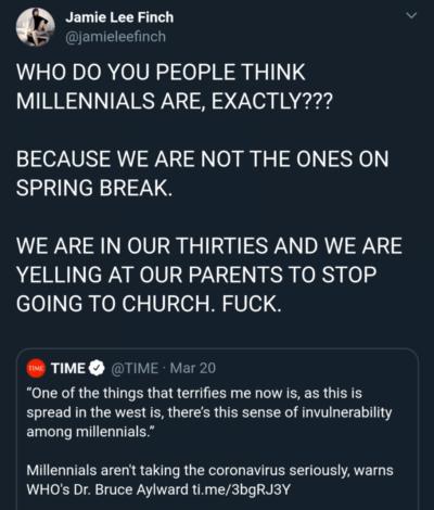 Sure, always blame the millennials
