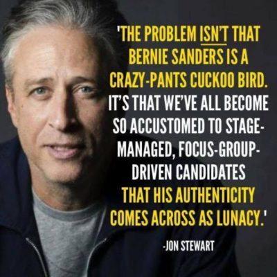 Jon Stewart on Bernie Sanders