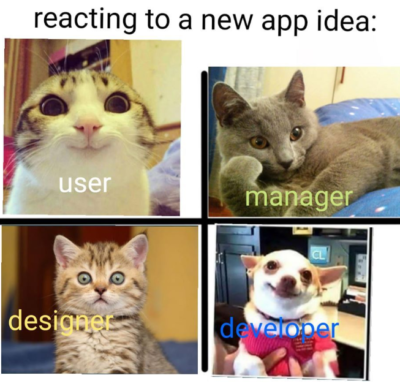 Different reactions to New App Idea's