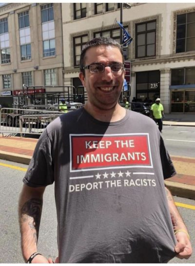 KEEP THE IMMAGRANTS DEPORT THE RACISTS