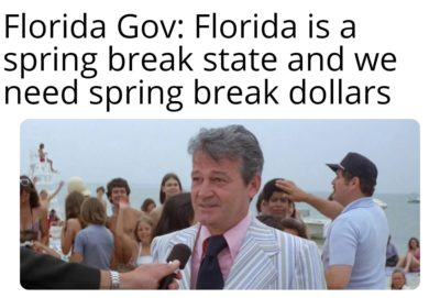 Florida man says it's business as usual.