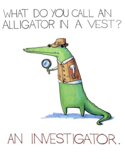 An investigator. Day 8 of making people's day with cute puns