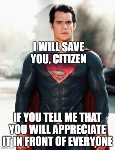 If Superman acted like world leaders