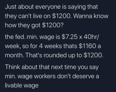 Vote blue no matter who, they said. We want living wages