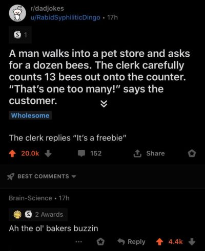 To (take the) bee or not to bee