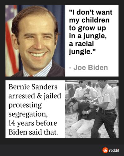 How are people choosing Biden?