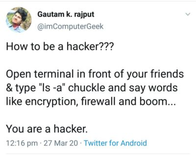 Easiest way to become a hacker.