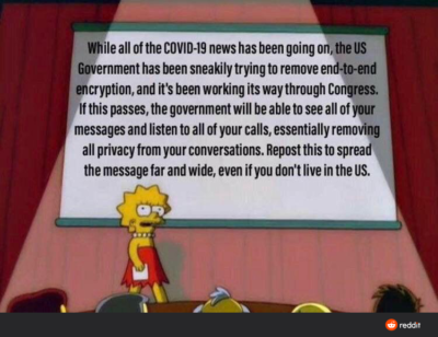 This belongs here, cause you guys get how important encryption is (and how long and hard someone was working on it) unfortunately, We're the joke to gov't here.