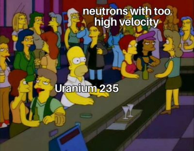 Neutrons at 150km/s be hittin' different