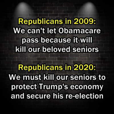To Republicans, our senior citizens are just political pawns…