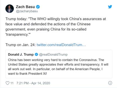 WHO bad, Trump good