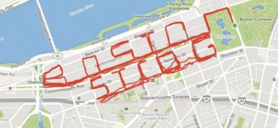 "Marathon runner ran 26.3 miles to spell out ""BOSTON STROG"" in her fitness app"