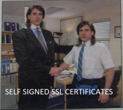 Self signed SSL certificates…