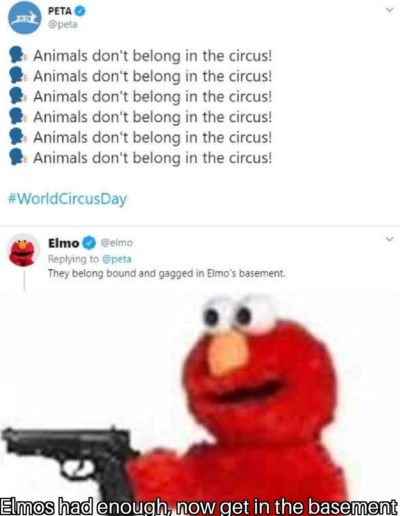 Elmo is here