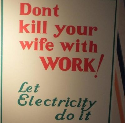 Wife bad, electricity good
