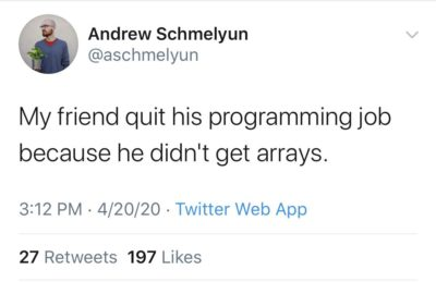 Arrays are hard