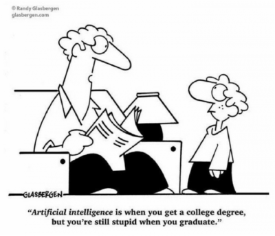 Degree in computer science= You are stupid. Makes sense