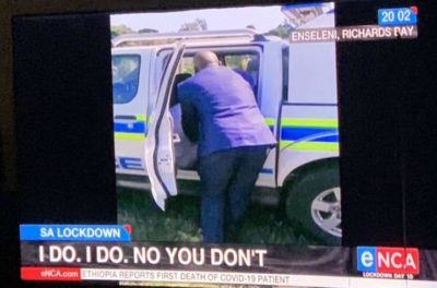 Someone snitched on a wedding happening during quarantine in South Africa. This was the news headline