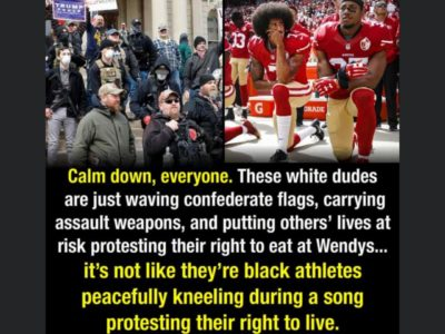 Calm down, it's not like they're kneeling during a song