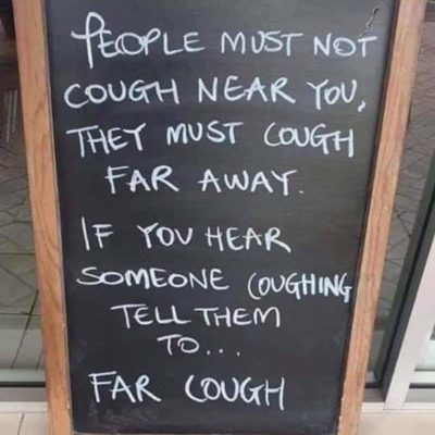 If you hear someone coughing…