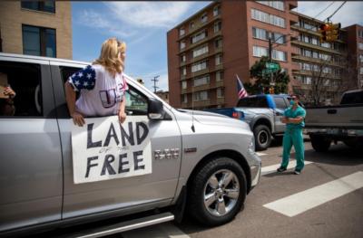 Nurses blocking anti lockdown protests
