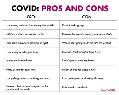 Covid pros and cons