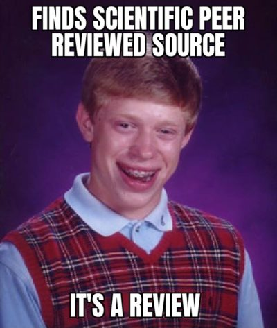 I just don't want to write 'for review'