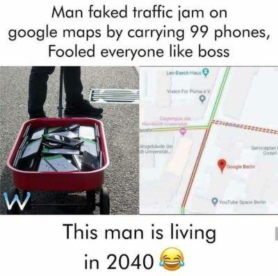 Omg he's living in 2040 hahahhaa
