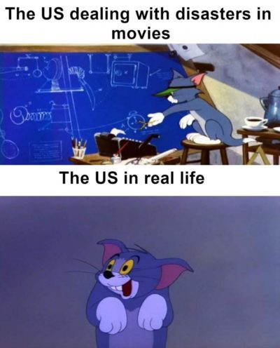US gov in movies vs real life