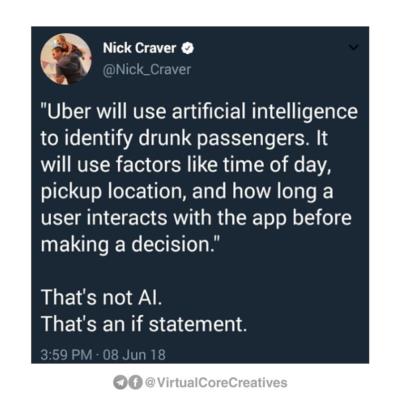 "Uber using ""AI"""