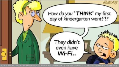 Kids and their WiFi.