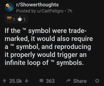 Recursive ™ symbol