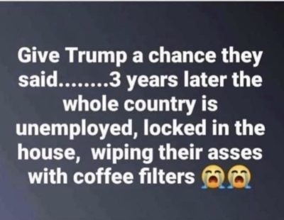 Give Trump a chance they said….