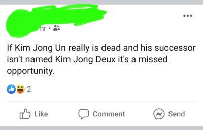 R.I.P Kim Jong Un……………… /s
