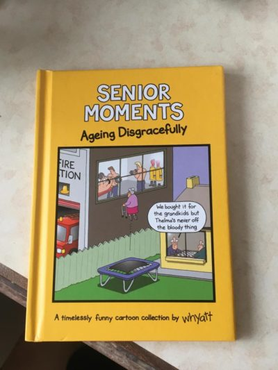 A whole book full of boomer humour bought by my boomer parents