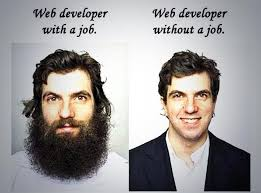 Developer with a job and without a job