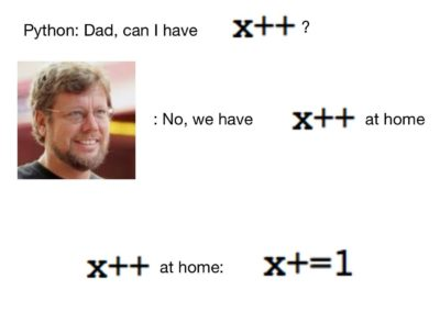 Python: Dad, can I have x++?