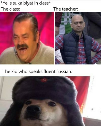 Why is cyka blyat still a thing