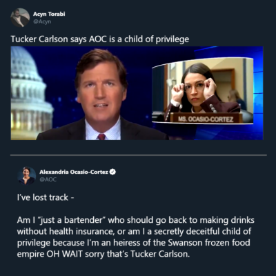 AOC gives Tucker Carlson a 3rd degree burn